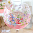 Lisa Angel Floral Sweet Pea Balloon Gin Glass