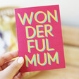 Lisa Angel Bold 'Wonderful Mum' Mother's Day Card