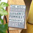 Lisa Angel 'Coolest Dad' Graphic Father's Day Card