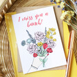 'I Miss You a Bunch' Greeting Card for Her