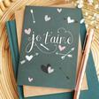 Lisa Angel UK Printed 'Je t'aime' Valentine's Day Card