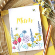 'Mum' Wildflower Greeting Card for Her