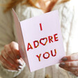 Lisa Angel Pink 'I Adore You' Valentine's Day Card