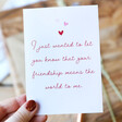 Lisa Angel Pink and Red 'Your Friendship' Greeting Card