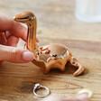 Lisa Angel Copper Dinosaur Ring Holder Close Up