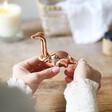 Lisa Angel Copper Dinosaur Ring Holder with Model