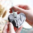 Personalised Photo Ceramic Heart Hanging Decoration