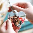 Personalised Image Ceramic Heart Hanging Decoration