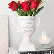 Personalised Ceramic Speckled Valentine's Trophy Vase