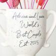 Personalised Ceramic Speckled Valentine's Trophy Vase Gift