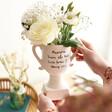 Personalised Ceramic Speckled Trophy Vase Gift