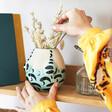 Lisa Angel ceramic-turquoise-swimsuit-planter on Shelf