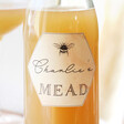 Lisa Angel Personalised Bottle of Gosnell's Mead