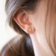 Lisa Angel Delicate Mismatched Bee and Daisy Stud Earrings in Gold
