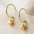 Lisa Angel Star Charm Hoop Earrings in Gold