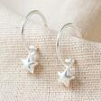 Lisa Angel Star Charm Hoop Earrings in Silver