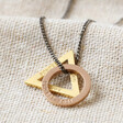 Lisa Angel Men's Personalised Double Geometric Charm Necklace