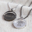 Lisa Angel Engraved Men's Personalised Spinning Disc Necklaces