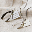 Lisa Angel Polished Men's Personalised Wishbone Necklaces