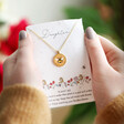 Lisa Angel Personalised Bee Necklace with Real Seed Card