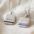 Lisa Angel Men's Personalised Enamel Stripe Pendant Necklace