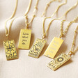 Lisa Angel Ladies' Personalised Gold Sterling Silver Tarot Card Pendant Necklaces