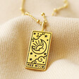 Lisa Angel 'The Moon' Personalised Gold Sterling Silver Tarot Card Pendant Necklace