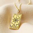 Lisa Angel 'The World' Personalised Gold Sterling Silver Tarot Card Pendant Necklace