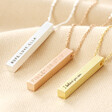 Lisa Angel Personalised Bar Necklace Colour Options