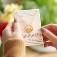 Lisa Angel Personalised Wildflower Necklace with Real Seed Card