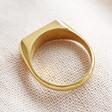 Lisa Angel Stylish Personalised Stainless Steel Bar Signet Ring