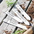 Set of Four Ceramic Herb Garden Plant Markers