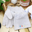Lisa Angel Real Leather Personalised Embroidered Birth Flower Gardening Gloves