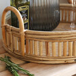Natural Rattan Serving Tray