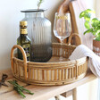Lisa Angel Rattan Serving Tray