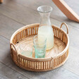 Large Rattan Serving Tray
