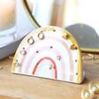 Lisa Angel Rainbow Ceramic Earring Holder