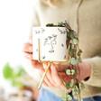 Lisa Angel White Face Print Mini Planter