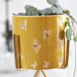 Lisa Angel Yellow Bee Print Mini Planter and Gold Stand