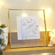 Lisa Angel Speckled Glass Photo Frame in Gold
