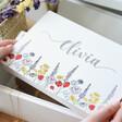 Personalised Wildflower Medium White Wooden Box