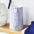 Lisa Angel Blue and White Striped Jug handle