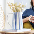 Blue and White Striped Jug from Lisa Angel