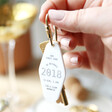 Lisa Angel Ladies' Personalised Date and Coordinates Acrylic Keyring
