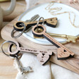 Lisa Angel Personalised Key Shaped Keyring