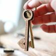 Lisa Angel Personalised Key Shaped Key Ring