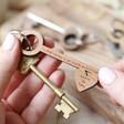 Lisa Angel Personalised Key Shaped Key Rings