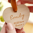 Lisa Angel Small Personalised Wooden Heart Hanging Decoration