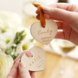 Lisa Angel Personalised Wooden Heart Hanging Decorations