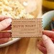 Lisa Angel Engraved Personalised Wooden Ticket Stub Token